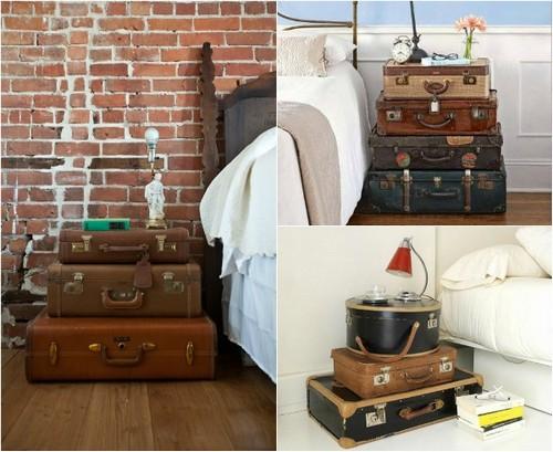 Прикроватные тумбочки из чемоданов