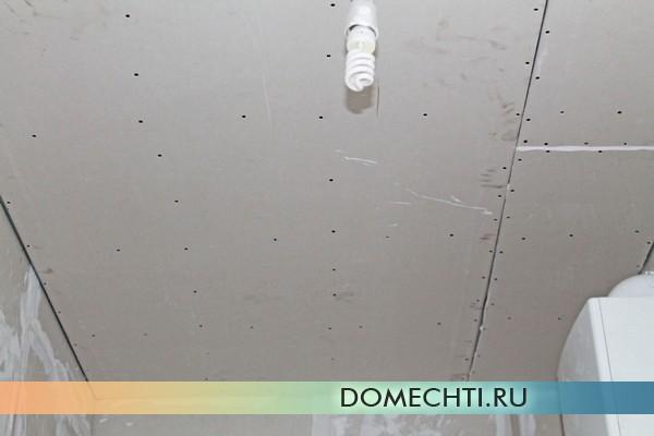 Ровный потолок из гипсокартона своими руками фото