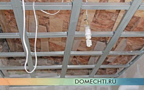 Как выровнять неровный потолок гипсокартоном