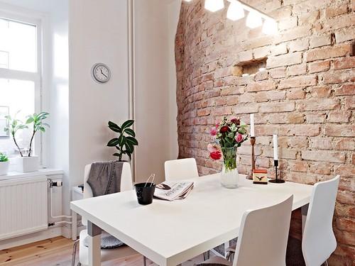 кирпич в интерьере квартиры фото