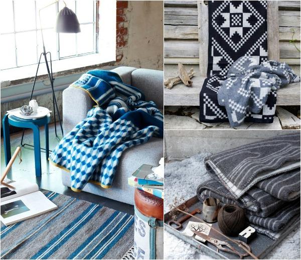 Дизайнерские пледы для дома Roros Tweed