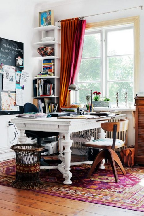 Домашний кабинет в стиле бохо