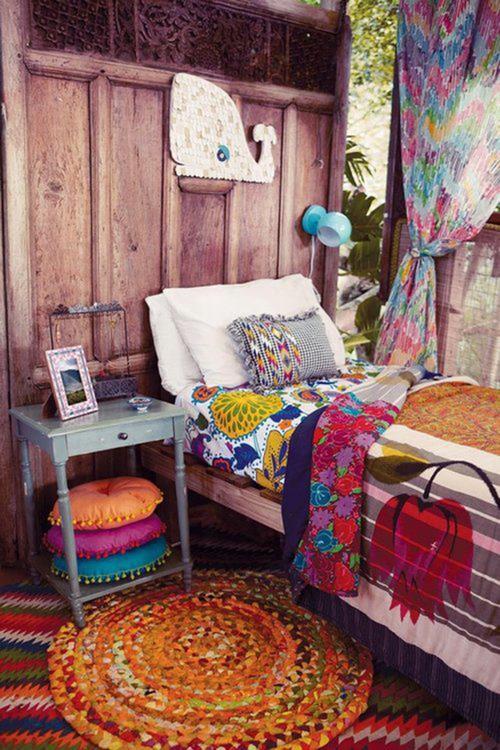 Плетеные коврики в стиле бохо