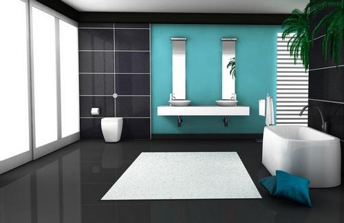 Ванная комната цвет морской волны