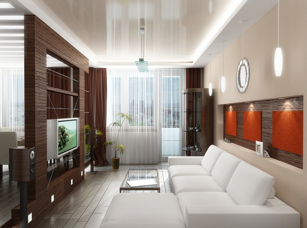 Дизайн квартиры-студии с перегородкой