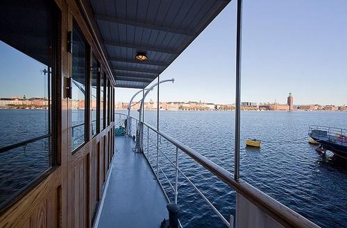 Роскошный дом на барже в Стокгольме