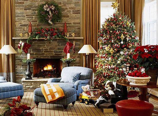 Новогоднее украшение дома 2014 фото