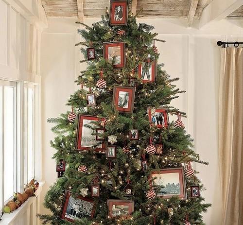 Украшение елки фотографиями