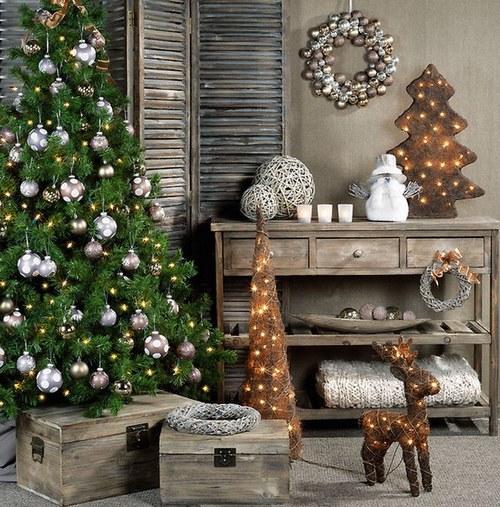 Украшение новогодней елки 2014 в стиле прованс