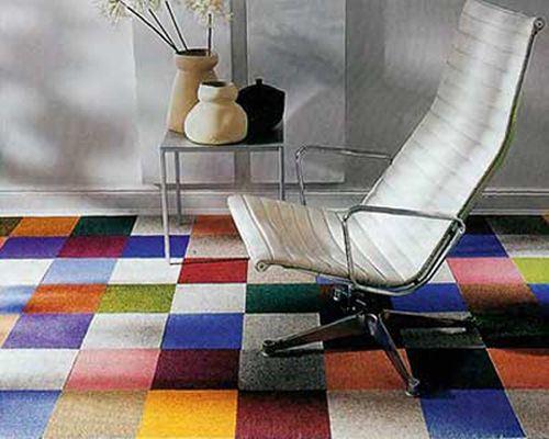 Разноцветная напольная плитка