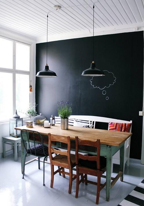Меловая доска черная во всю стену