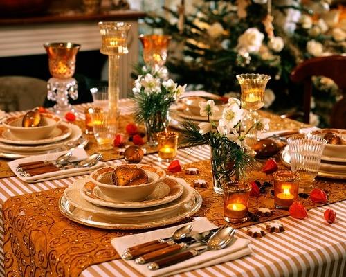 Сервировка новогоднего стола 2014