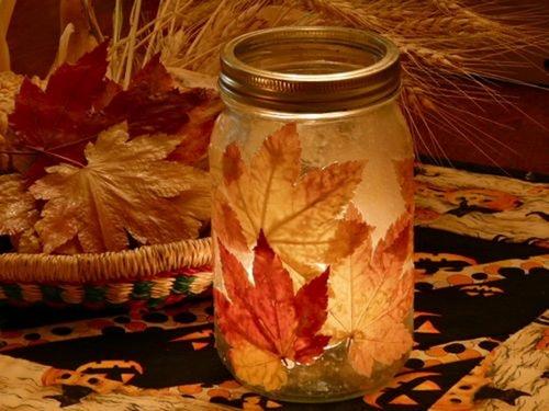 Сухие листья для декора фото