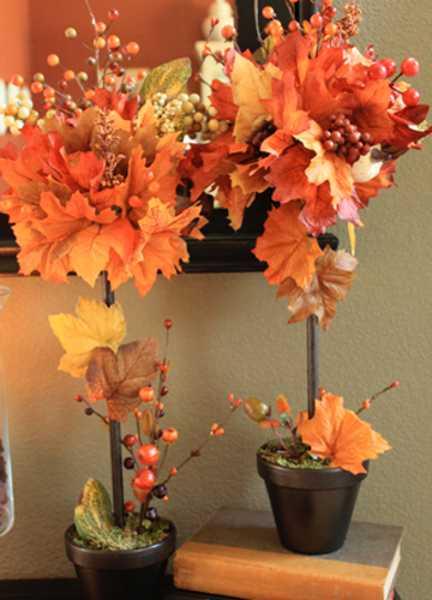 Осенние букеты из листьев