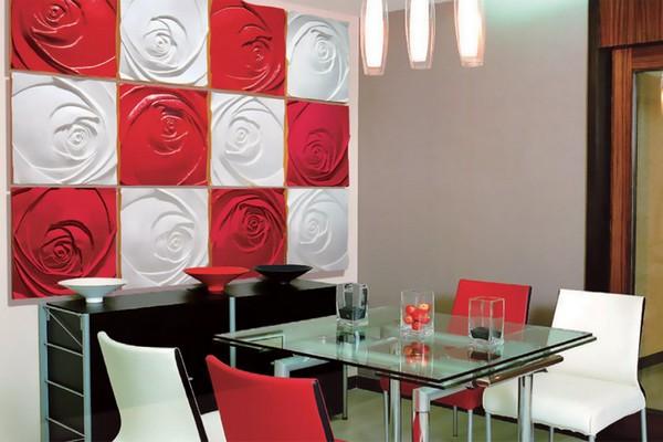 Декоративные 3d панели в интерьере