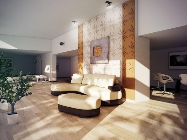 Декоративные 3Д панели для стен в интерьере студии