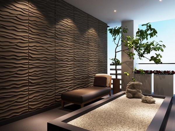 Рельефные 3D панели для стен