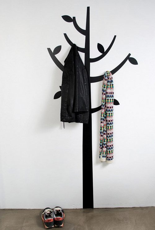 Наклейка на стену дерево-вешалка