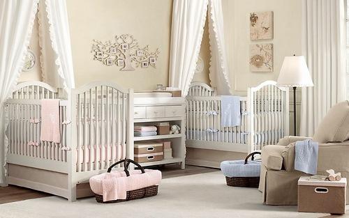 Комнаты для новорожденных близняшек