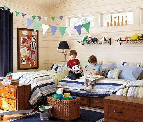 Комната для двойняшек мальчиков фото
