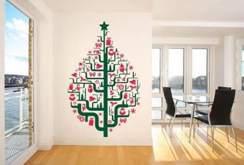 Новогодние наклейки в виде елки фото