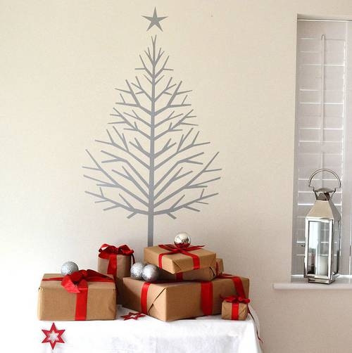 Новогодняя елка на стену фото