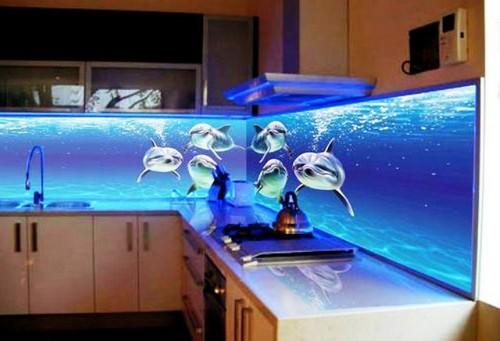Светодиодные 3Д обои на кухонный фартук