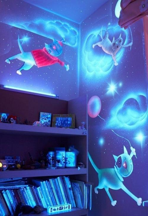 Фотообои с подсветкой 3D детские