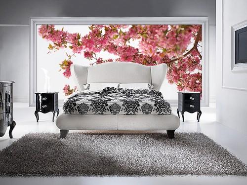 3D фотообои для спальни