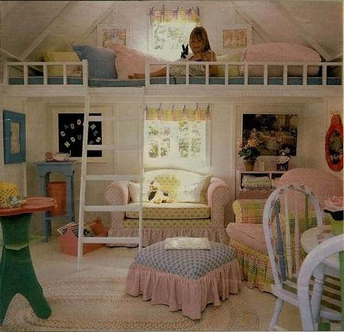Кровать чердак и игровая зона под ним