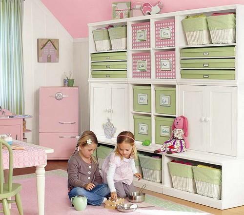 Место для хранения игрушек в игровой зоне