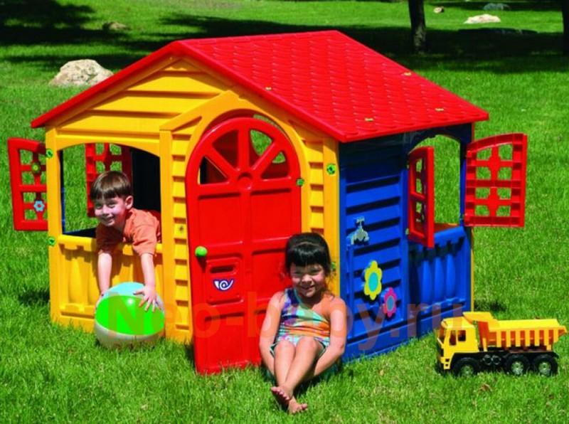 Домик пластиковый для детей на дачу