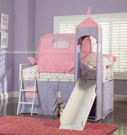 Кровать двухъярусная с домиком фото