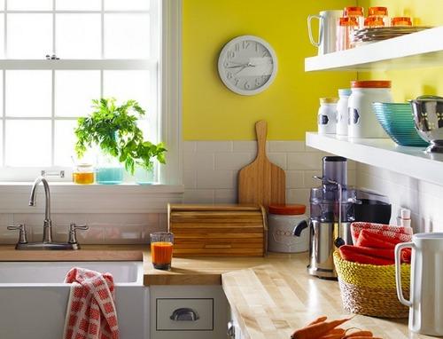 Аксессуары для кухни кораллового цвета