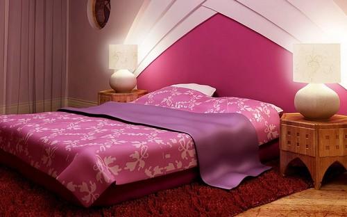 Малиновая спальня фото