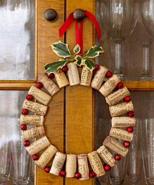 как сделать украшения на новый год своими руками на дверь