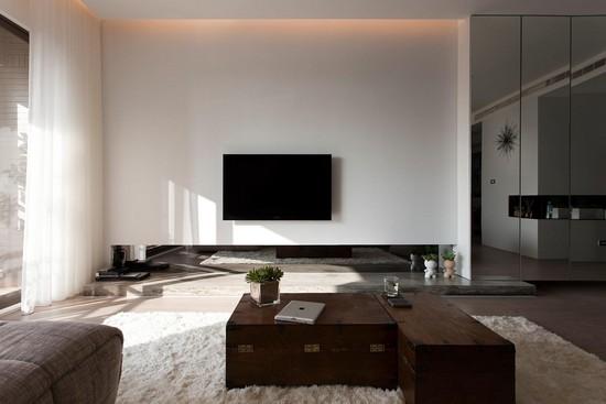 Дизайн гостиной в стиле контемпорари фото