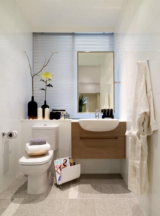 Контемпорари стиль в интерьере ванной комнаты фото