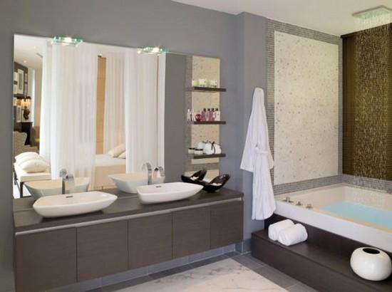 Стиль контемпорари в ванной фото