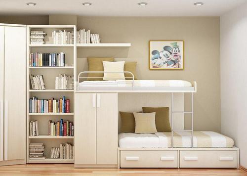 Маленькая детская комната с двухъярусной кроватью фото