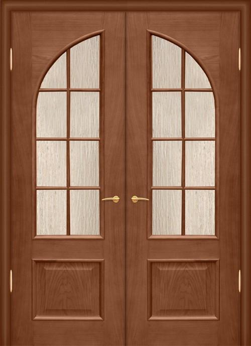 Филенчатые двустворчатые двери фото