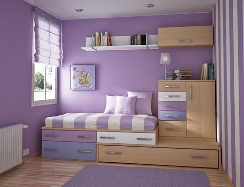 Лавандовый цвет в оформлении детской комнаты