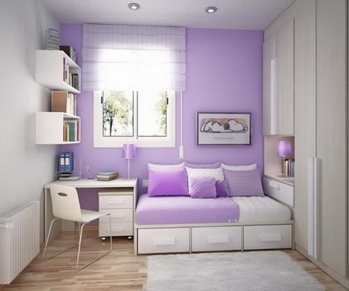 Лавандовый цвет в детской комнате фото