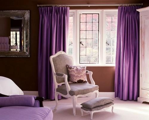 Цвет лаванды в интерьере гостиной фото