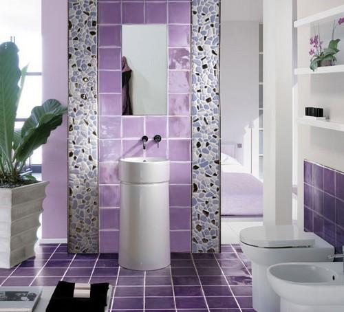 лавандовая ванная комната