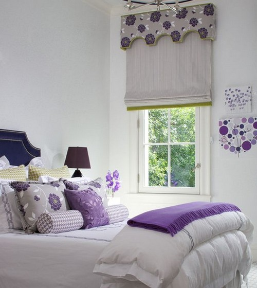Спальня в лавандовом цвете фото