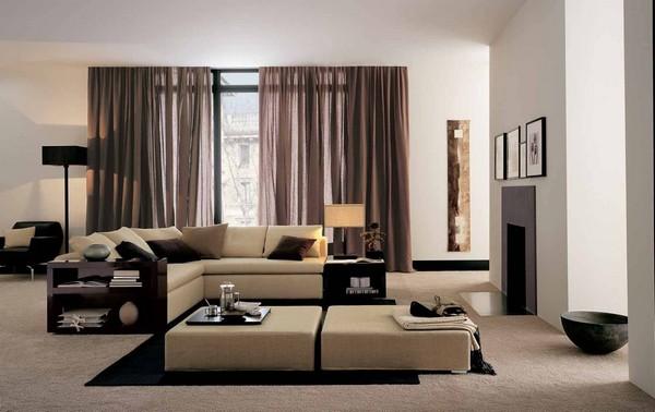 Стильная мебель хай-тек в гостиную