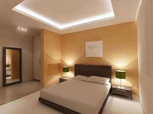 Подвесной двухуровневый потолок с подсветкой