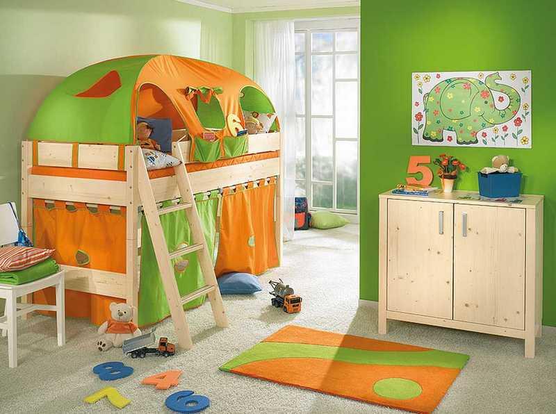 Дизайн детской комнаты с балконом