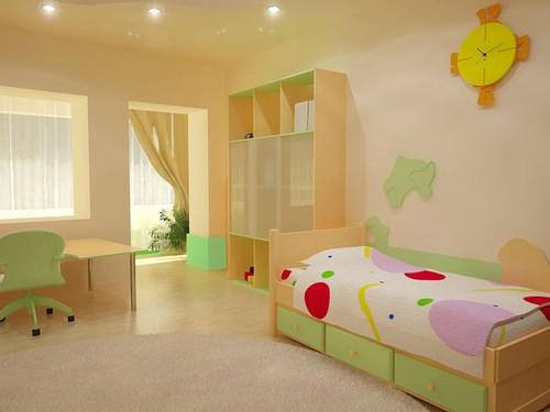 интерьер детской с балконом